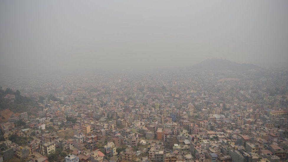 Nepal's capital, Kathmandu blanketed in haze