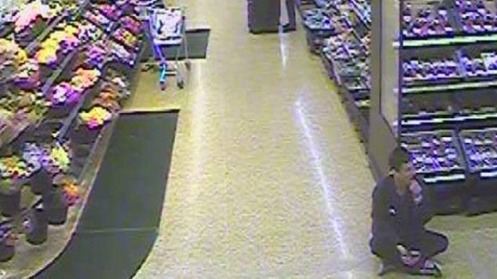 Clarkson sat on supermarket floor