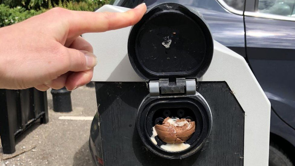 Creme Egg in charge point