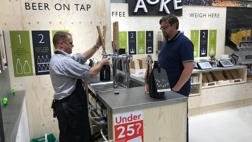 Beer on tap at Waitrose