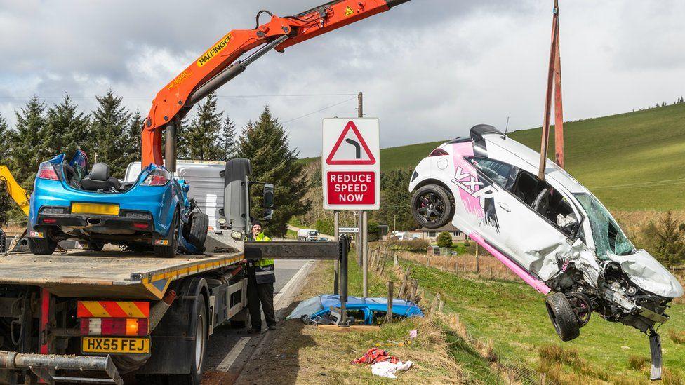 A96 crash cars