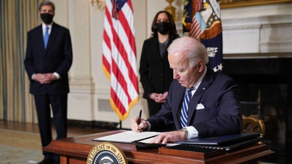Biden signs orders