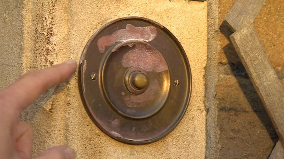Doorbell with corrosion