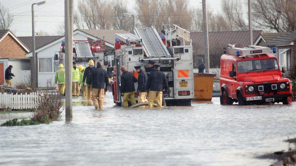 Flooding in Towyn