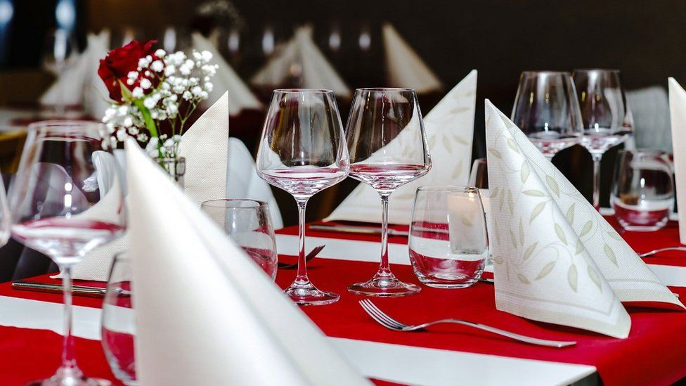 French restaurant table, file pic