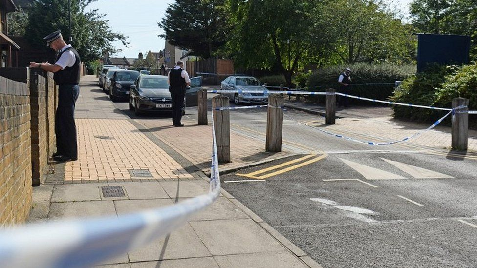 Police in Willan Road