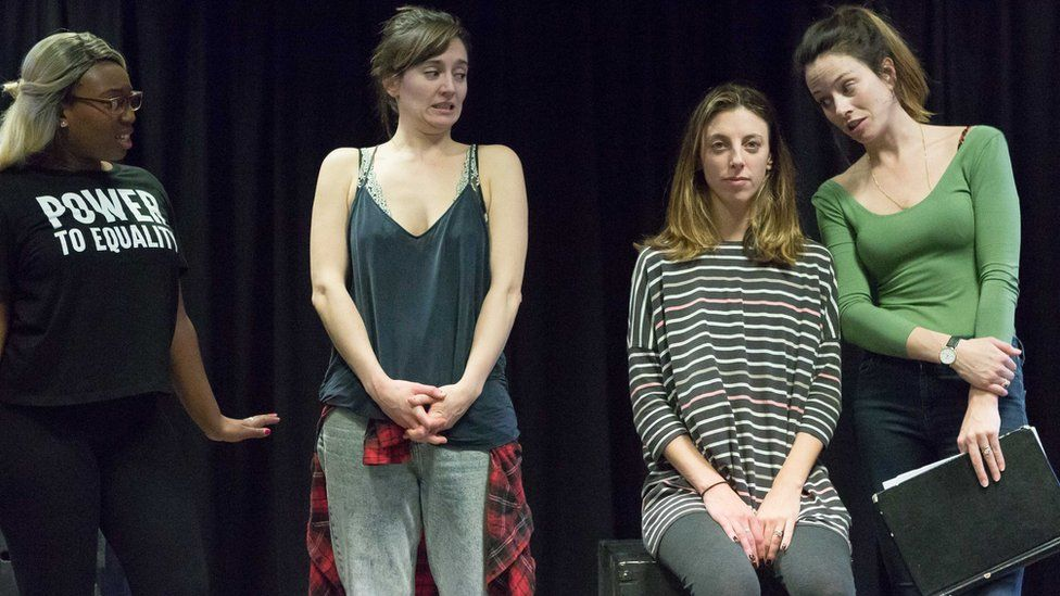 The play in rehearsal