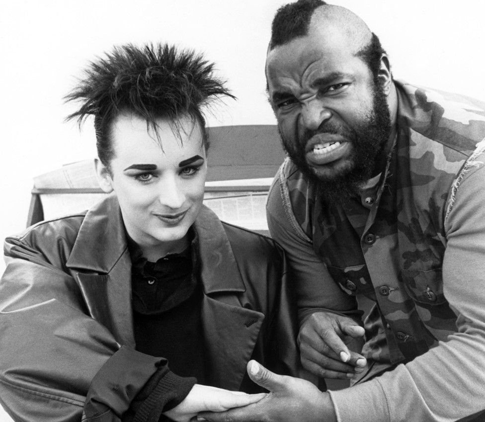 Boy George with Mr T