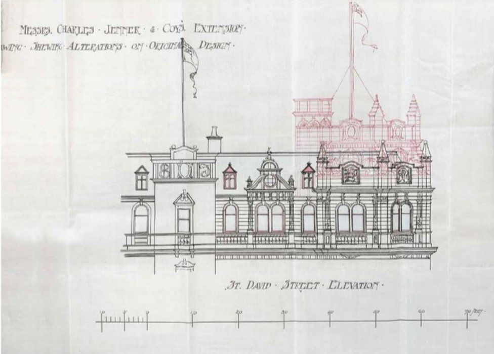 Rooftop addition - the original design for South Andrew Square corner