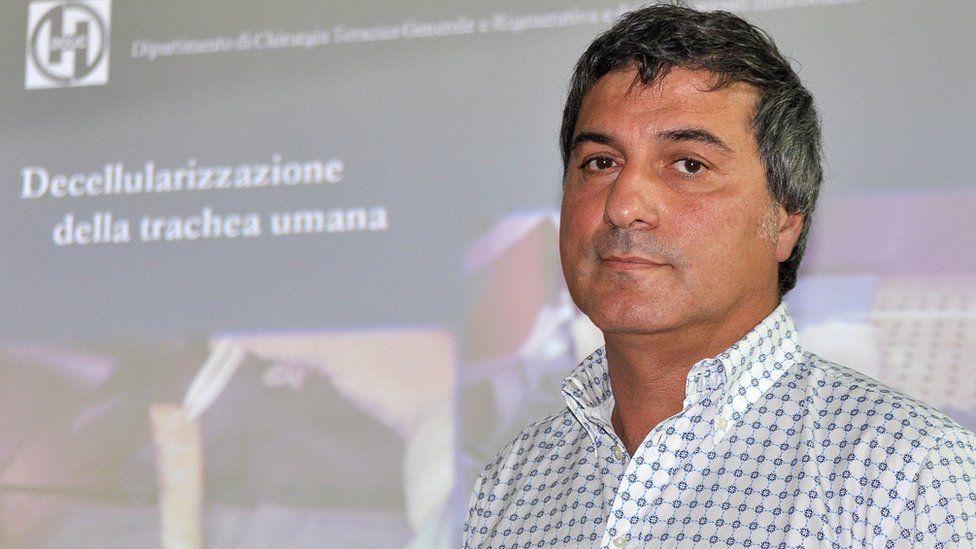 Dr Paolo Macchiarini at a press conference in 2010