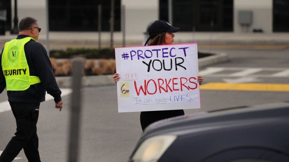 Amazon workers protest at Staten Island