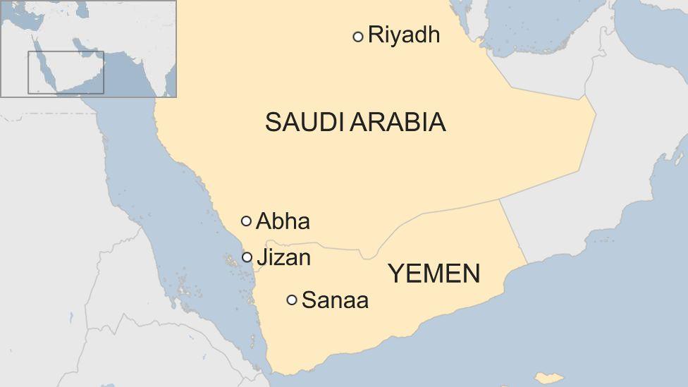 Yemen war: Civilian killed in Houthi attack on Saudi airport
