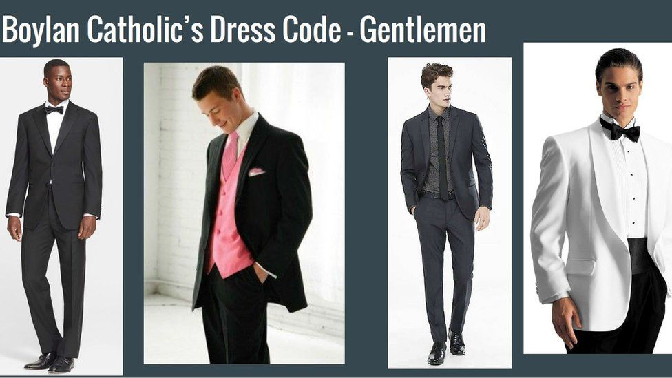 Dress code for the gents.
