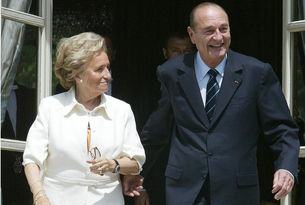 Bernadette Chirac with her husband in 2004