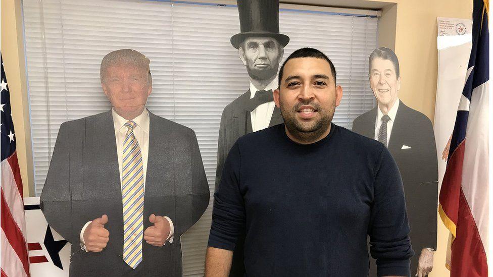Joacim Hernandez, president of McAllen's Young Republicans group