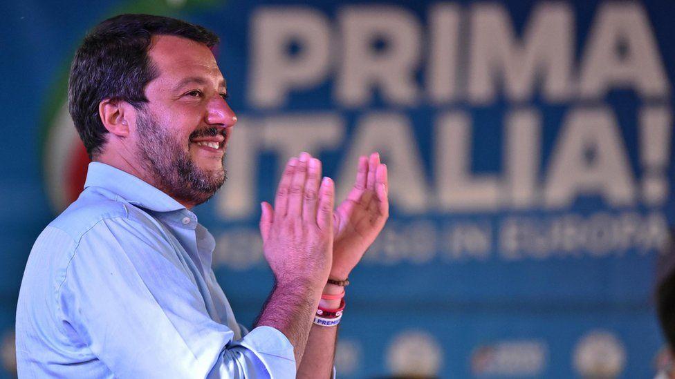 Italian Deputy Premier and Interior Minister Matteo Salvini
