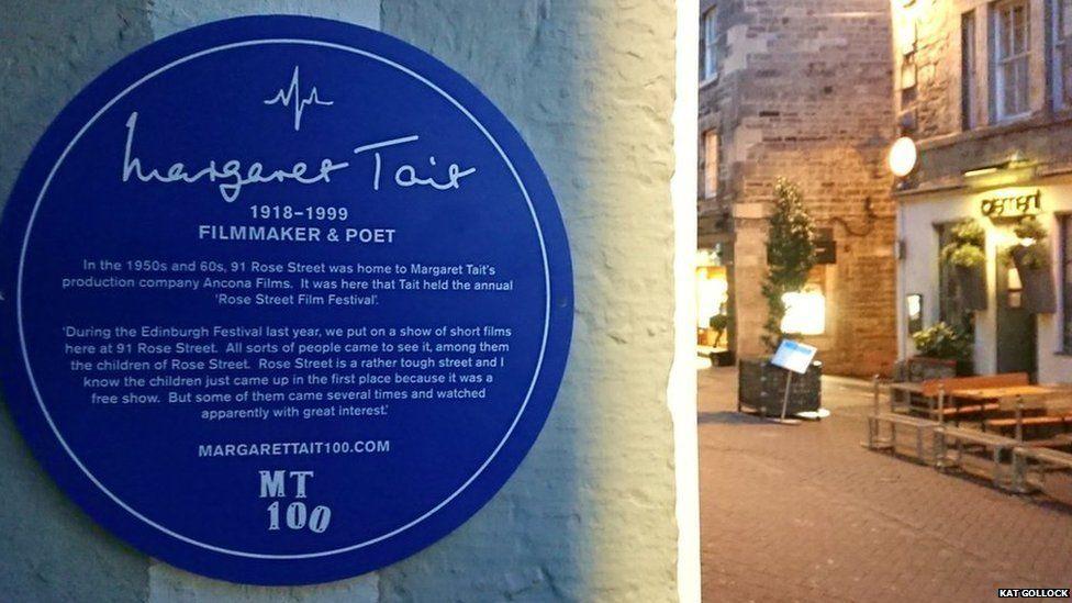 Plaque in Rose Street, Edinburgh