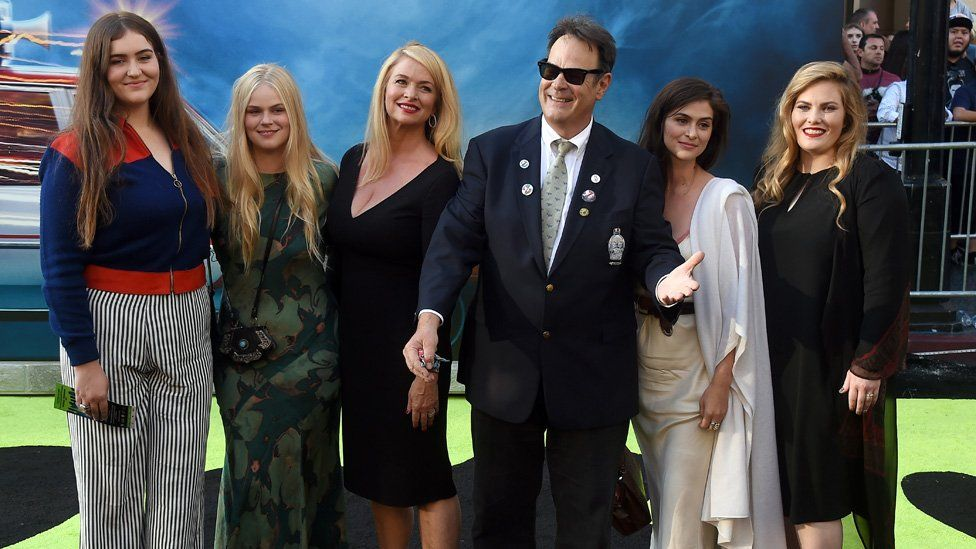 Dan Aykroyd and his family at a film premier