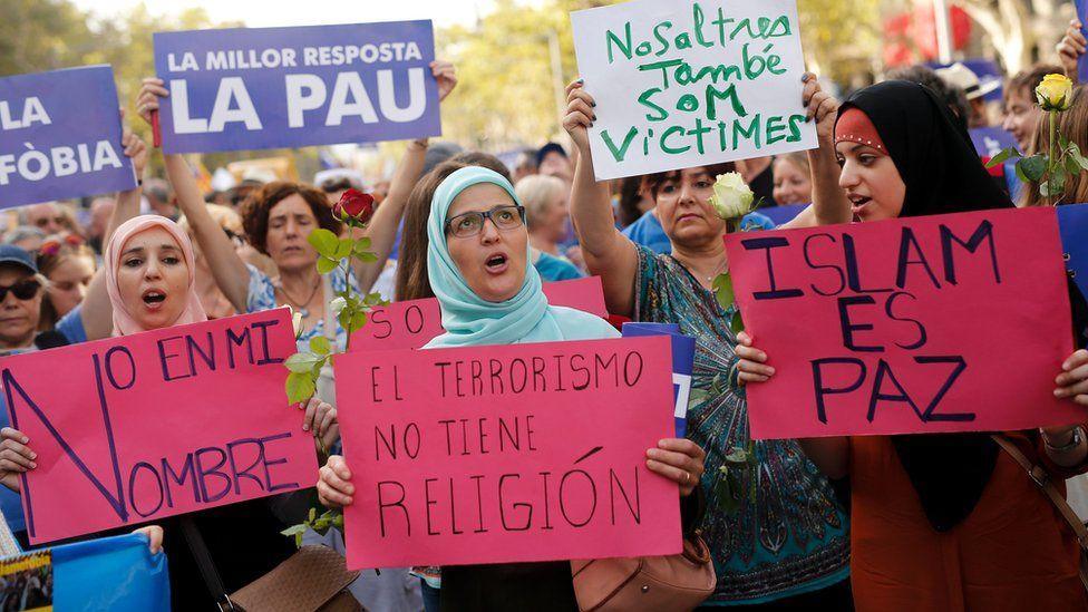 Anti-terror march in Barcelona, 26 Aug 17