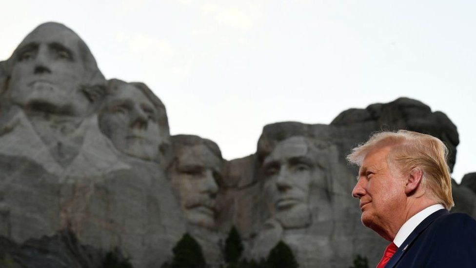 Trump at Mount Rushmore