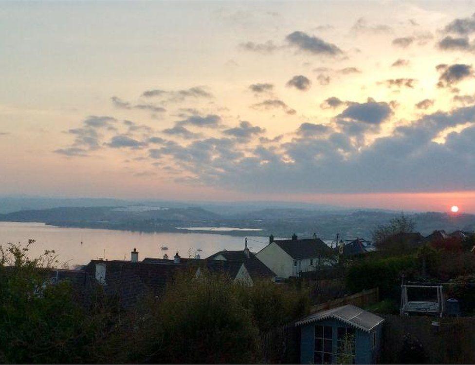 The sunrise in Saltash