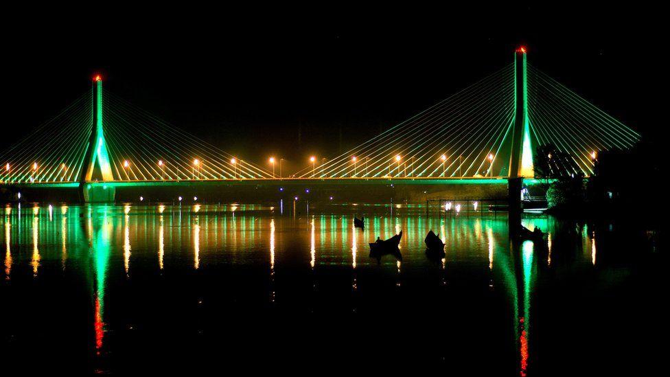 Source of the Nile bridge in Uganda