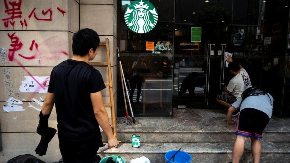 Why Starbucks? The brands being attacked in Hong Kong