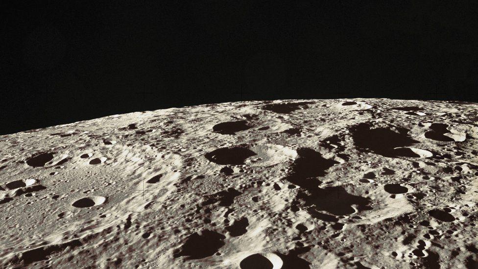 Lunar surface, the Hadley-Apennine region of the Moon