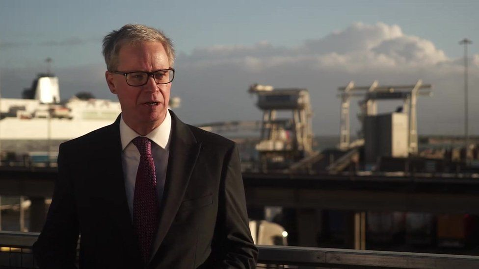 Doug Bannister, chief executive of the Port of Dover