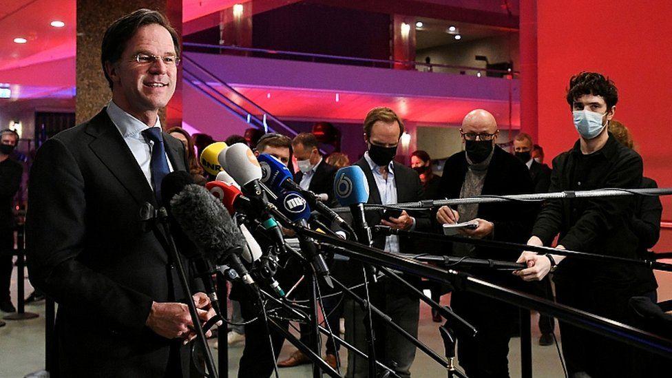 Caretaker PM Rutte wins most seats in Dutch vote, exit poll suggests