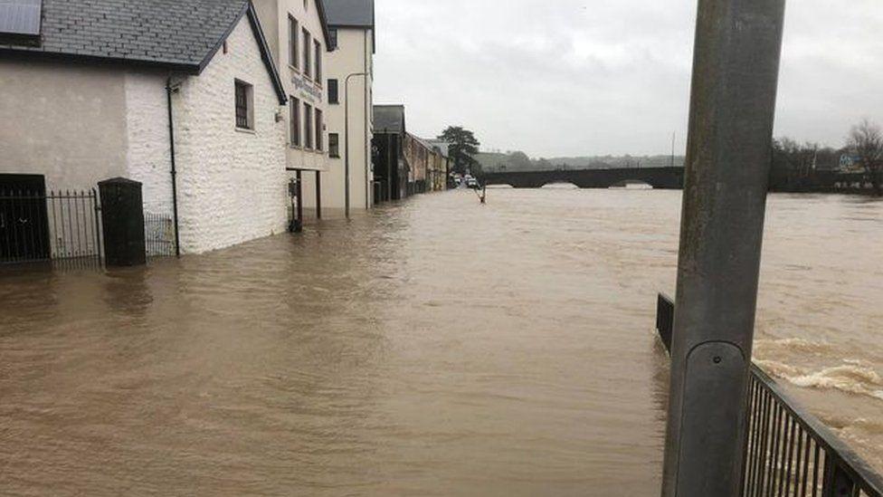 Flooding in Carmarthen