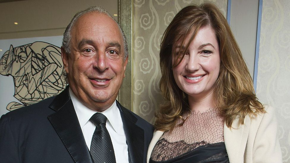 Sir Philip Green and Baroness Brady