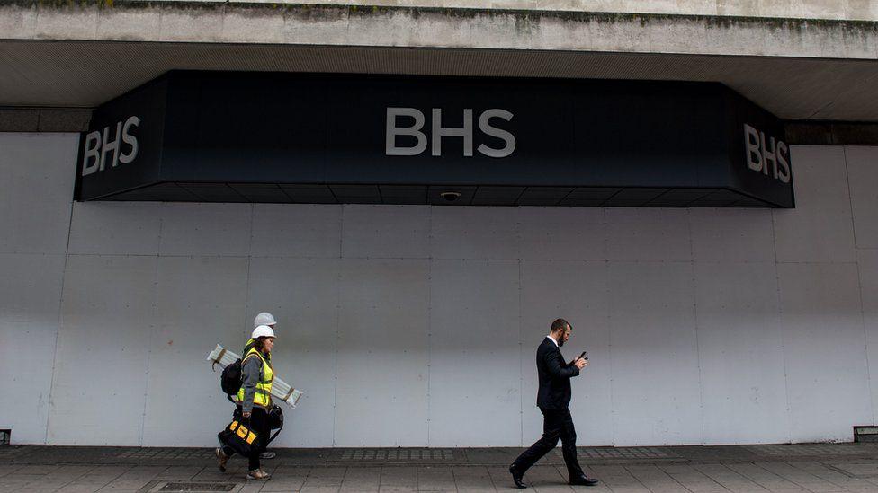 An empty BHS store in London