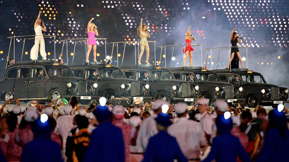 The Spice Girls at the London 2012 Olympic Closing Ceremony