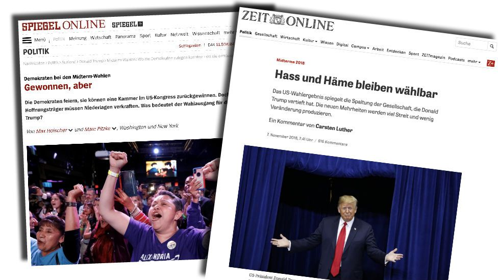 German newspaper front pages
