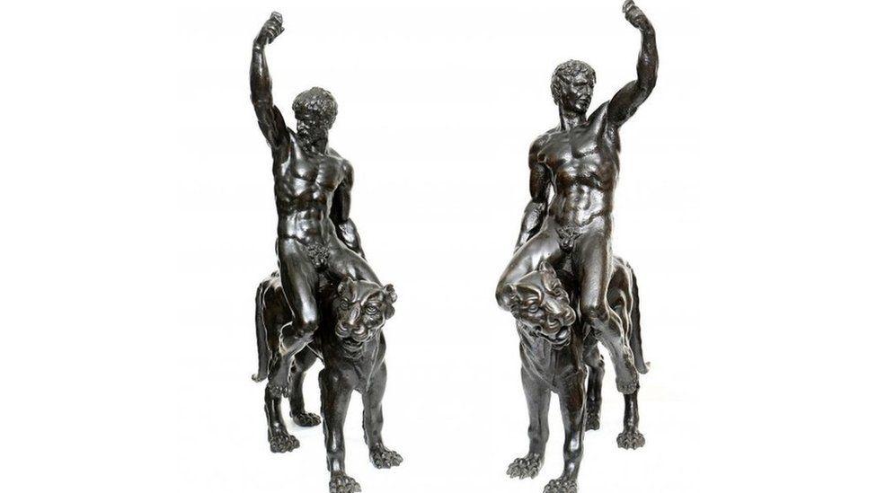 Bronze sculptures, possibly Michelangelo, Fitzwilliam Museum, Cambridge