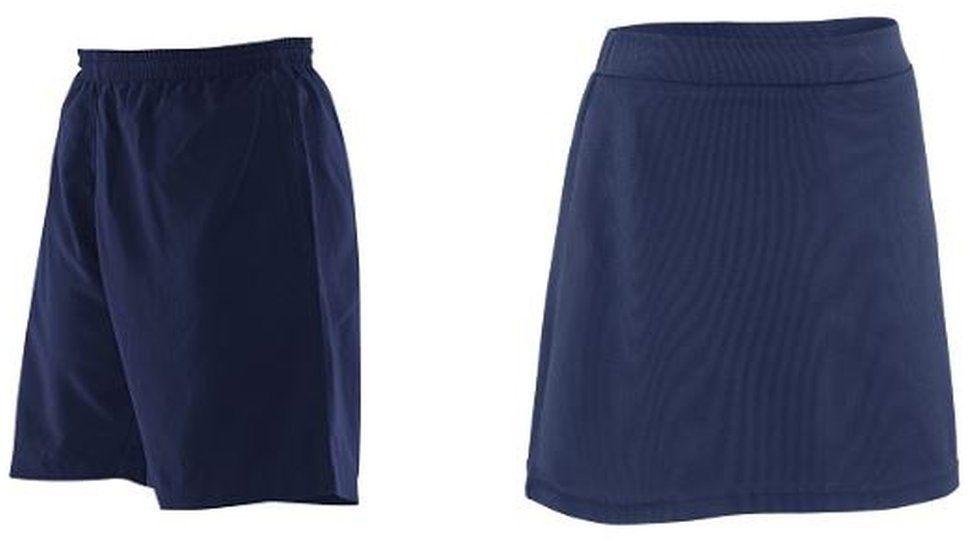Uniform shorts and skort