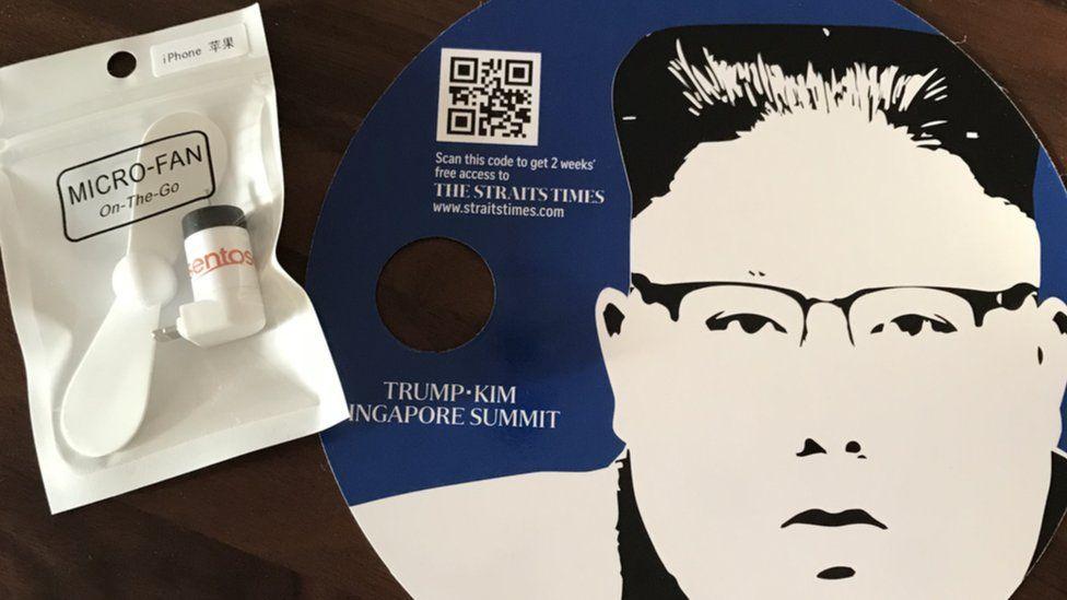USB fan and Kim Jong-Un CD