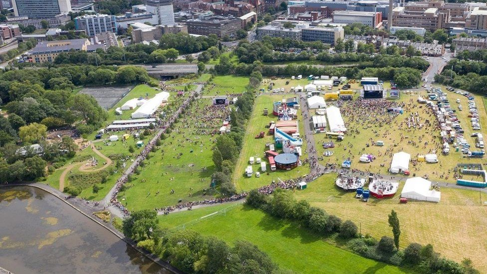 Aerial of the event site