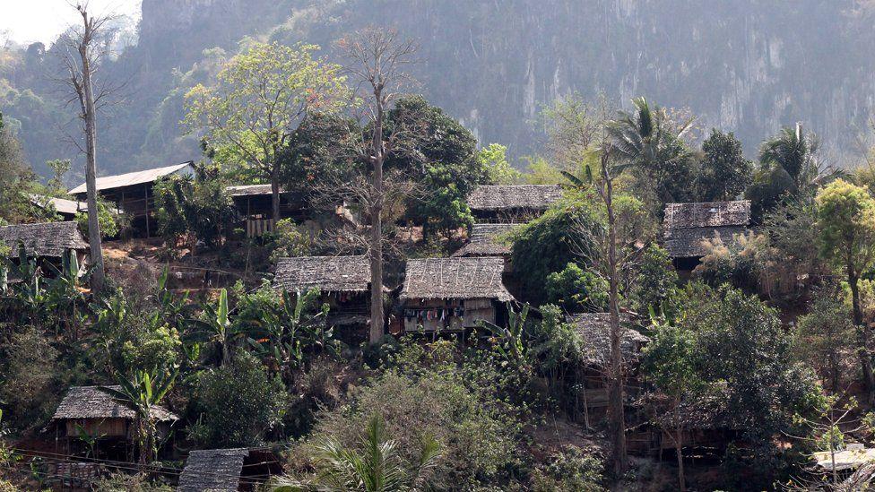 Mae La and cliffs behind