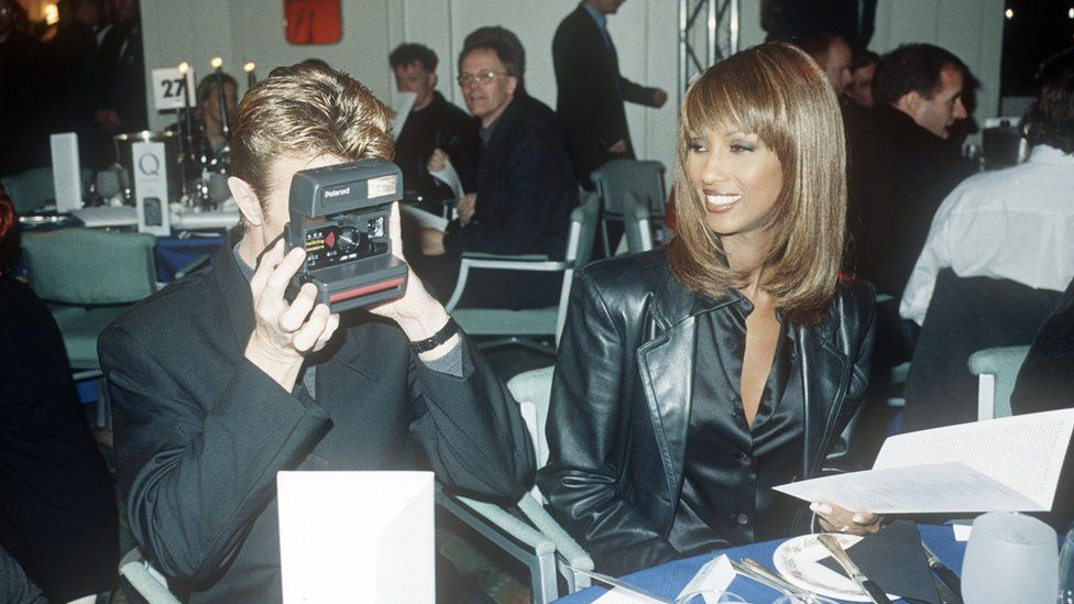 David Bowie and Iman were guests at the 1995 Q Awards