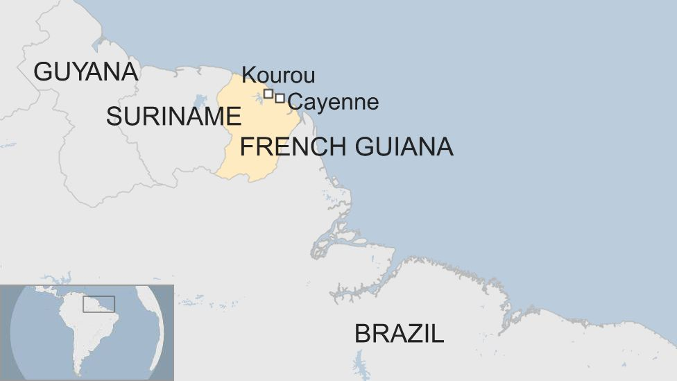 Where Is Guyana Located On The World Map.French Guiana The Part Of South America Facing A Total Shutdown