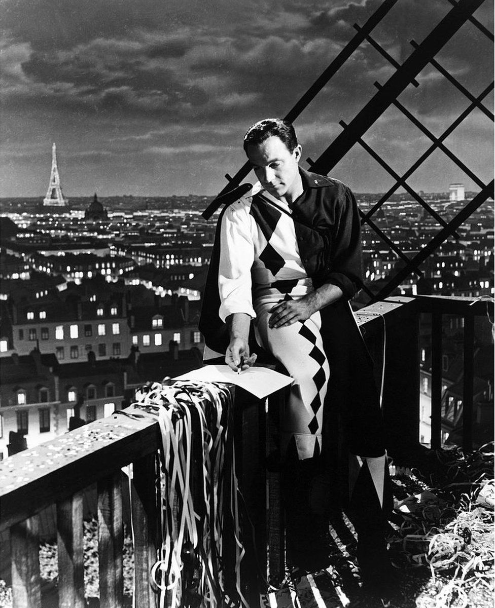 An American in Paris, starring Gene Kelly, was filmed on a sound stage with a painted backdrop of the city