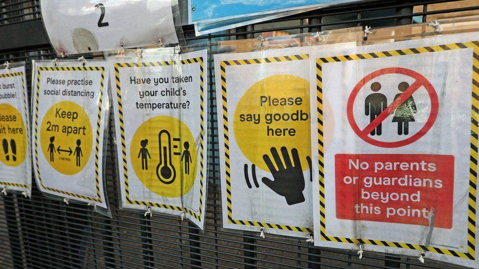 School Covid warnings