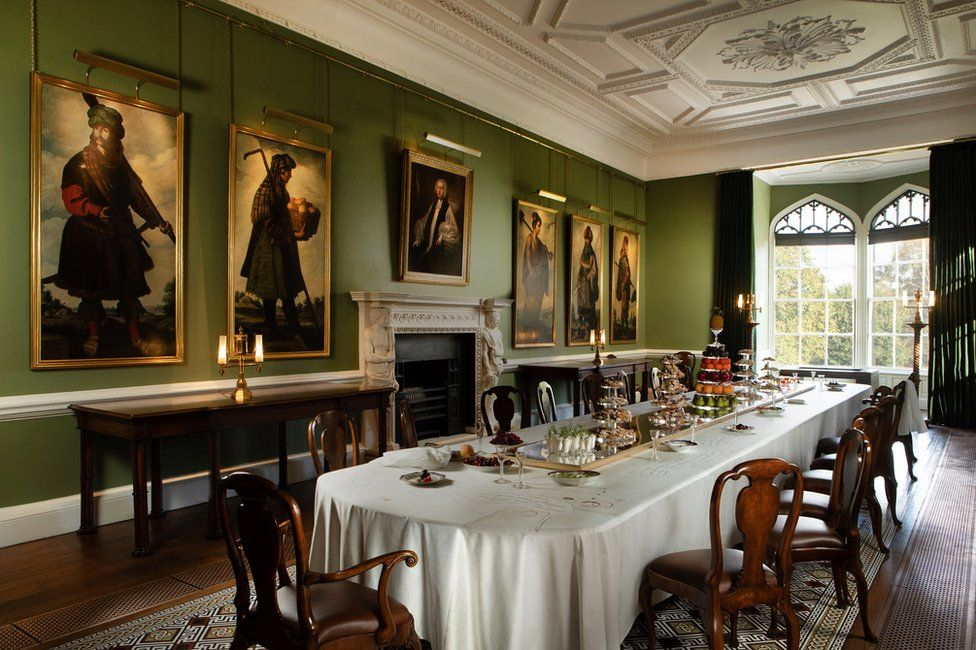 The long dining room at Auckland Castle