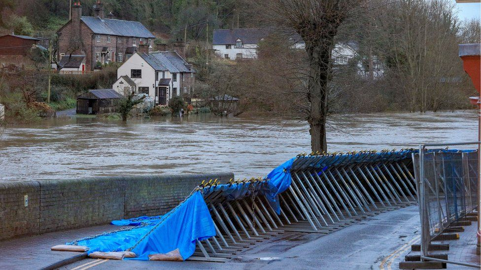 Flood defences in Ironbridge