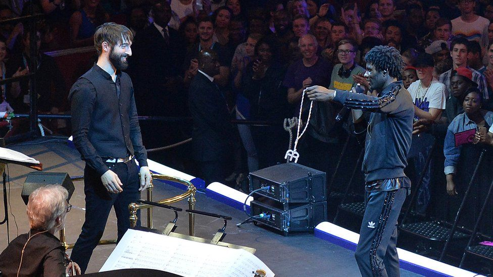 Metropole Orchestra conductor Jules Buckley and Wretch 32