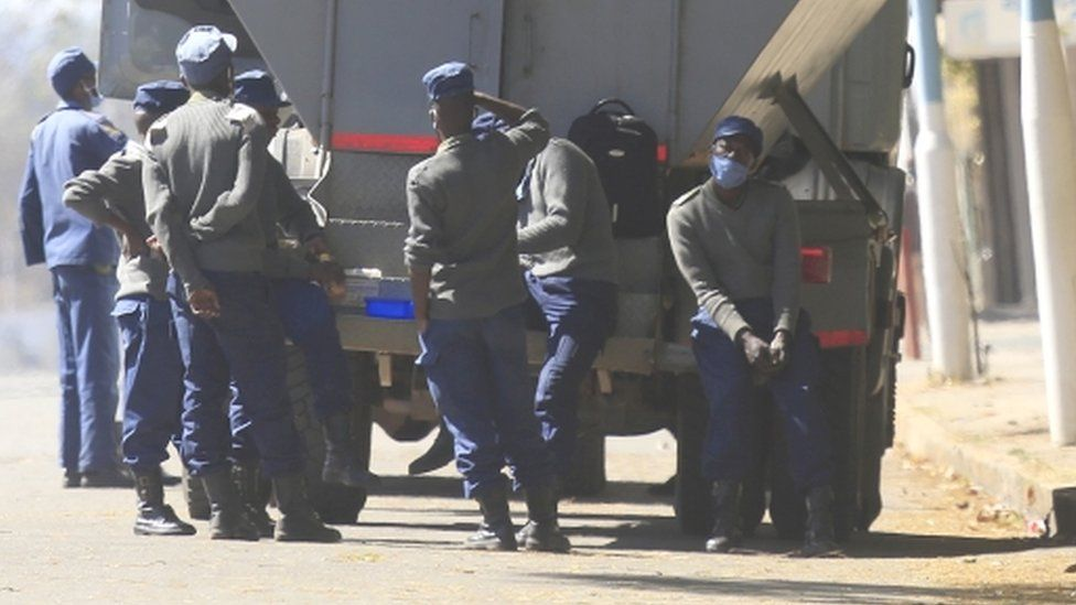 Police in Harare, Zimbabwe - Friday 31 July 2020