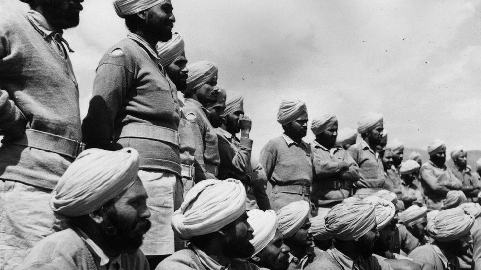 Sikh soldiers in 1944