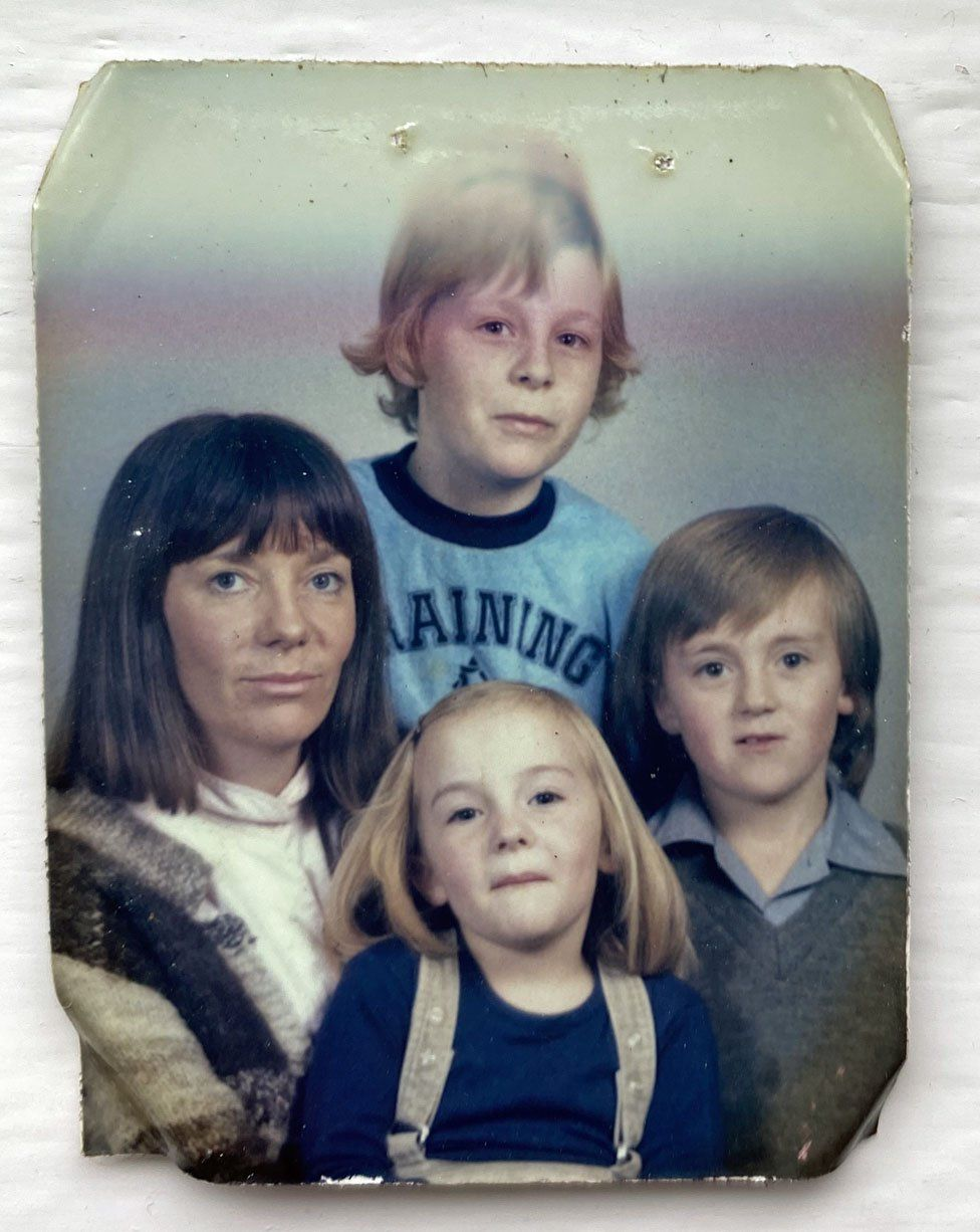 Penny Wincer with her mother and siblings Ashley and Pip
